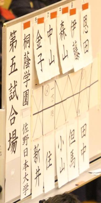 赤 ○桐蔭学園(1-0)佐野日大× 白