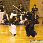 男子準決勝2、佐野日大・田中が代表戦で鮮やかな面を決めて阿蘇から勝利。阿蘇は準々での代表戦では浦安に勝利していた。