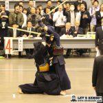 六段以上6回戦、優勝候補・立見(三井住海)を山本(NTT)がメンを決めて勝利。