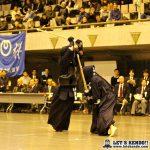 五段以下決勝、加藤(日通)は石井(テンプ)から延長でメンを決めて優勝。