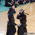 準々1、矢野が田内(筑波)の2年生同級生対決は、田内の面に矢野がコテを合わせて勝利。