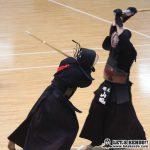 準々4、山田(明治)がコテで先制するも加納がコテ、さらに鋭い面を奪い逆転勝利。