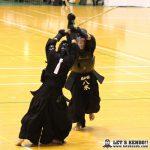 男子個人決勝、八木(国士舘)が吉川(小山)から延長でメンを決めて優勝。