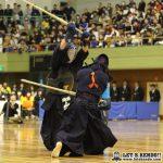 決勝、九州学院対東海大浦安は、副将戦で九学・梶谷が浦安・山下から2本勝ちし、チームの4連覇を決める1勝を挙げた