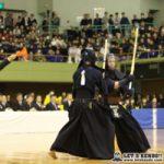 決勝戦、九学副将・梶谷の勝利で優勝を決め、大将・星子も浦安・白鳥から2本勝ちし3-1で九学が勝利した。