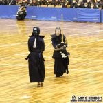 女子準決勝1、優勝候補・筑紫台を大社が大将戦で福間の勝利により初の決勝進出を決めた