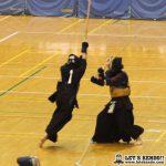 女子準決勝、本庄第一対桐蔭学園は、桐蔭中堅・榎本、副将・渡部の勝利により2-1で決勝へ駒を進めた