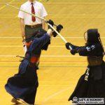女子準決勝、守谷・西口と小山・入江の代表戦で、西口がメンを決めて決勝進出を決めた。