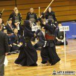 準々3、秋田南と龍谷は先鋒から副将まで引き分け、大将戦で秋田・齊藤が龍谷・井口からメンを決めて1本勝ちし初の準決勝進出を決めた。
