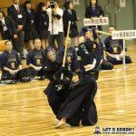 準決勝1、九州学院と麗澤瑞浪は大将戦で九学・星子が麗澤・小角から2本勝ちし決勝進出を決める。