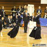 準決勝2、東海大浦安と秋田南は先鋒から副将まで引き分け、大将戦で浦安・白鳥が秋田南・齊藤から2本勝ちし決勝進出を決めた。