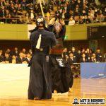 代表戦、九学・重黒木が引きメンを決めた。