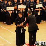 前回大会優勝 星子(筑波大)。選手宣誓もおこなう。